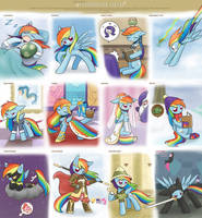 Clothe meme RainbowDash by HowXu