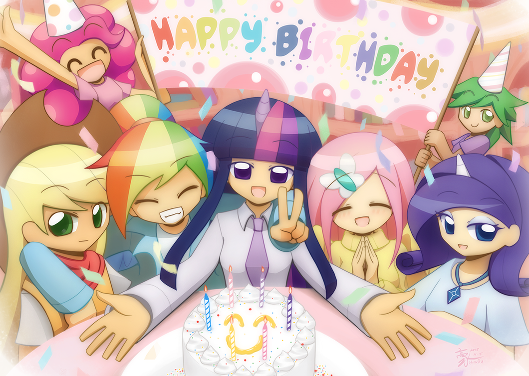 Commission happy birthday by HowXu