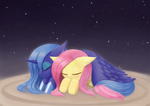 Weekly art#71 Luna Fluttershy good night rerendere