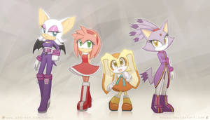 Weekly doodles Aug 28, 2017 Sonic Girls