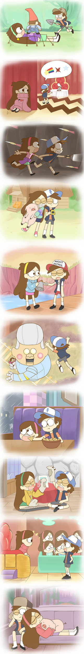 Weekly doodles Oct 11 Dipper is a great brother by HowXu