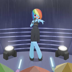 RD singing in Rain by HowXu