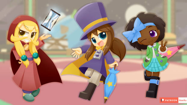 Girls in A Hat in Time
