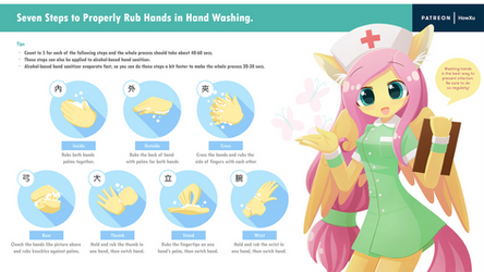 FS teaching how to wash hands
