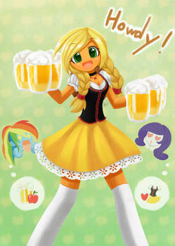 Commission Apple Jack serving ciders