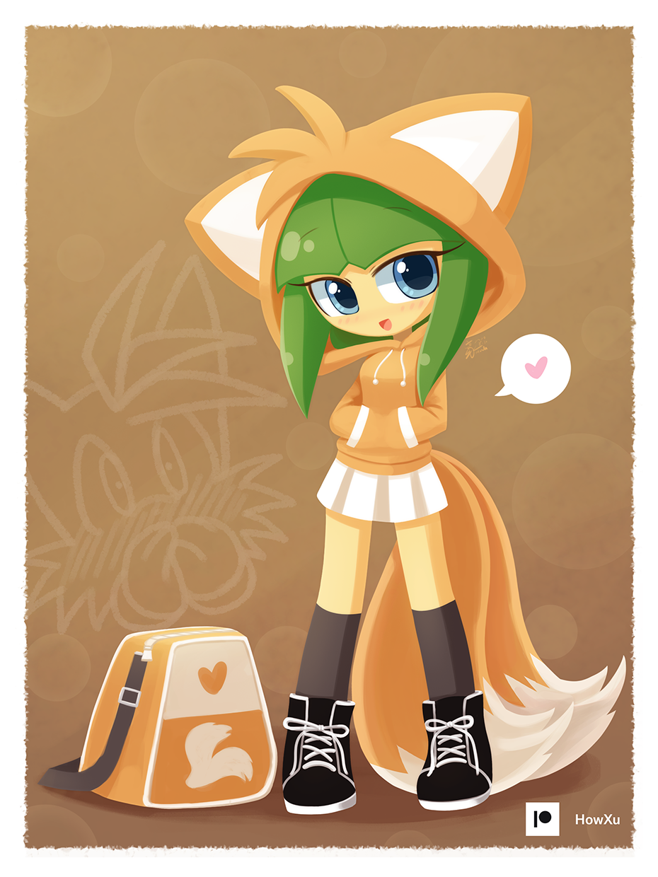 Cosmo in Tails hoodie