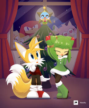 Tails Cosmo and mistletoe