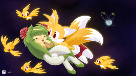 Super Tails saves Cosmo