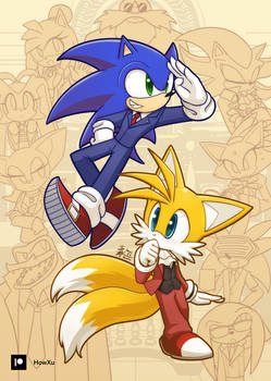 Sonic Wright and Miles Tails Edgeworth