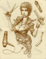 Yami with scissors by SkoLzki