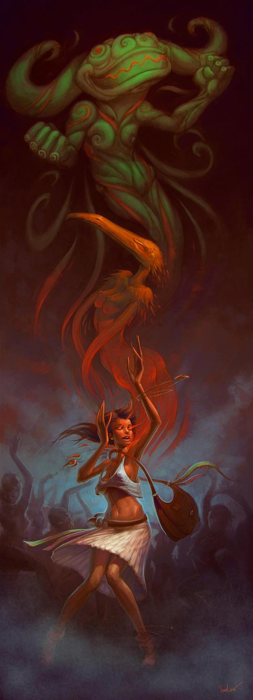 Warrior dance by SkoLzki