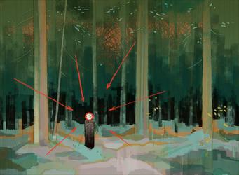 In the forest of Countess Mordvinova by SkoLzki