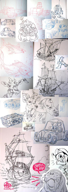 Sketch Dump Number 1 by StephenMcCranie