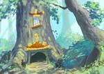 Pagoda Tree Painting Experiment