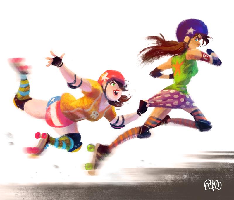 Roller Derby Girls by StephenMcCranie