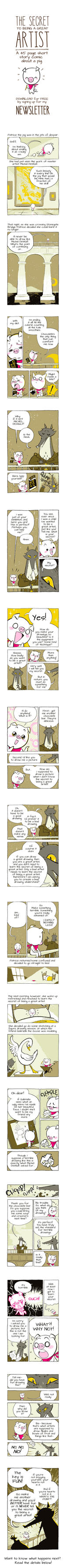 The Secret to Being a Great Artist by StephenMcCranie