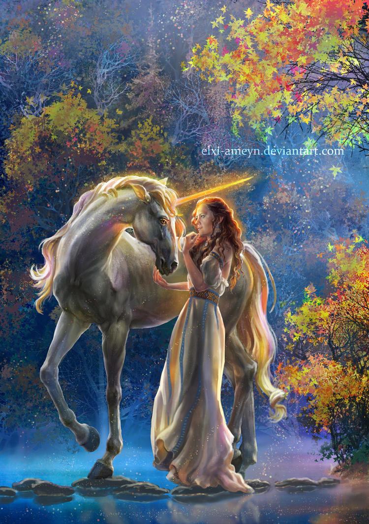 Sophia and the Unicorn by ElXi-Ameyn