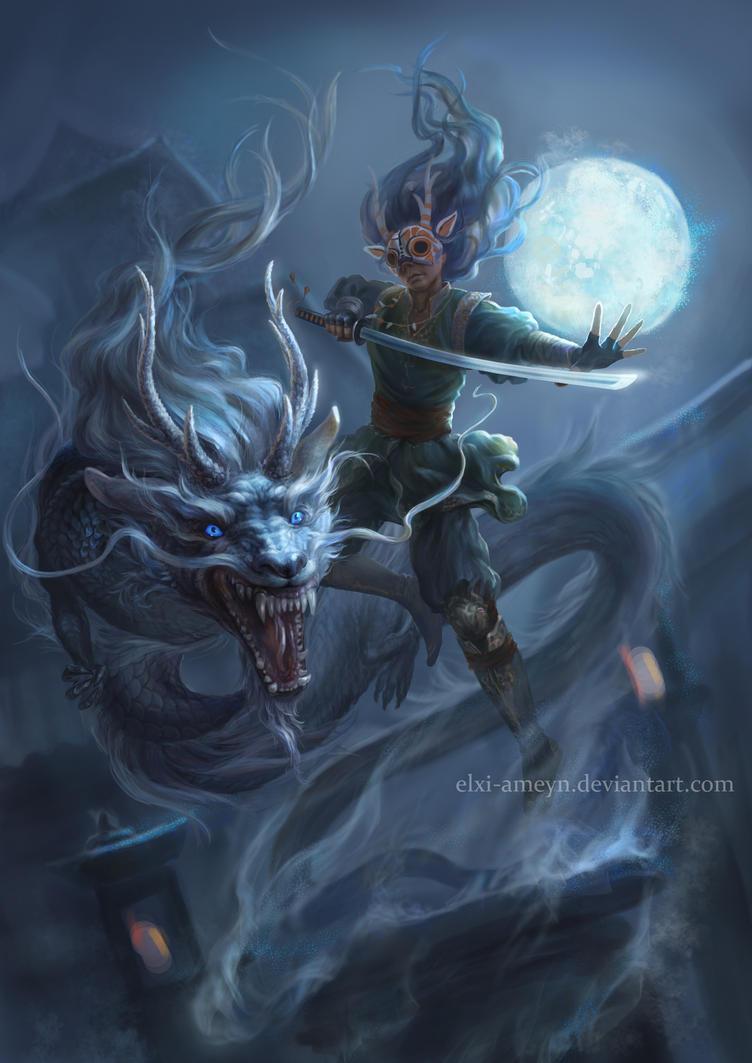 Eastern dragon by ElXi-Ameyn