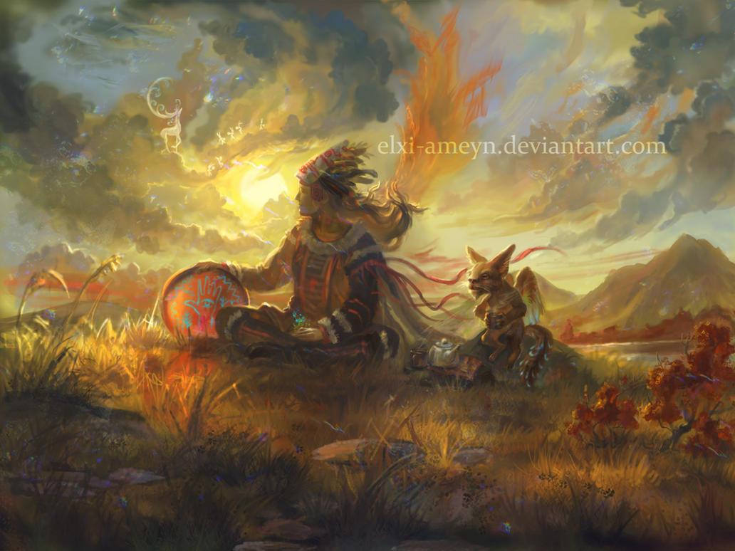 Shaman by ElXi-Ameyn