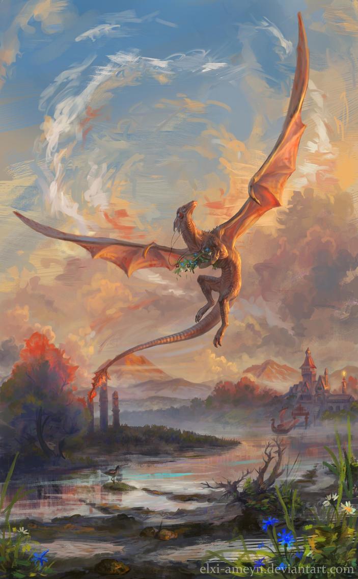 Dragon-music fan by ElXi-Ameyn