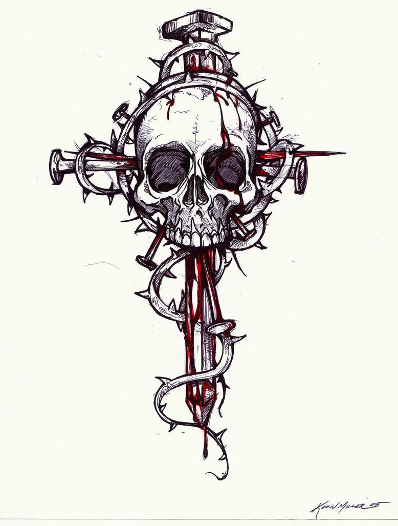 Skull Cross Drawings