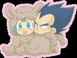 Llama Vegeta and Bulma