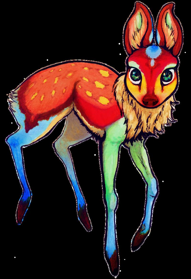 Starlight deer - Aurora by Unicornia