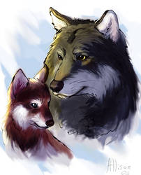 Wolves by Unicornia