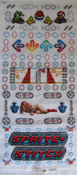 Sprite Stitch stitch-a-long sampler by Lileya-Celestie