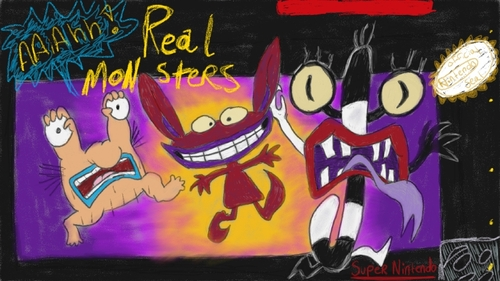 Aahh real monsters SNES by 8BitBiscuitZ