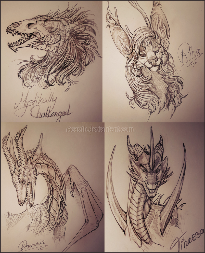 2nd Bust Sketch Collection by Acayth