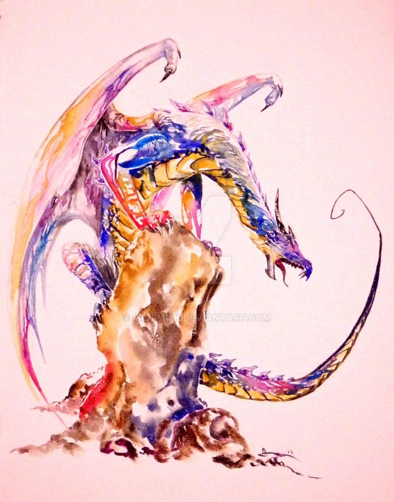 Colored dragon by mini-milk