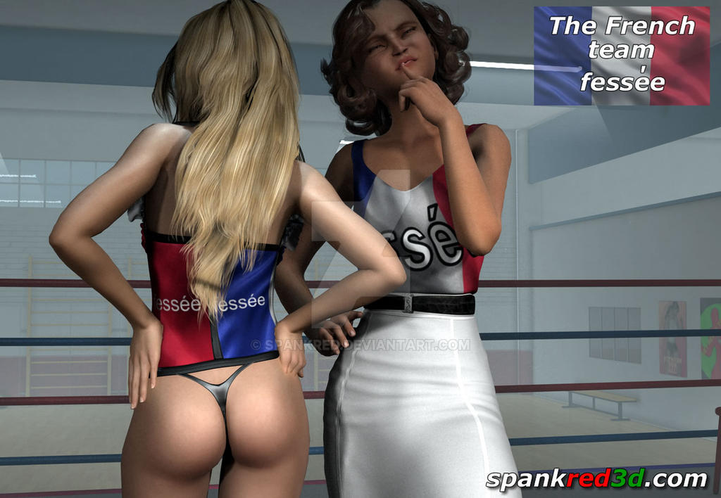 The French Spanking Team by SpankRed