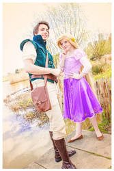 Rapunzel and Flynn by Childishx