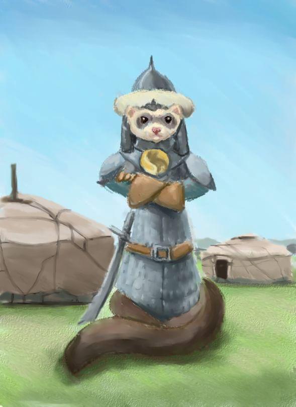 Genghis Ferret by nienor