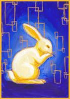Klimt's Bunny Blue by nienor