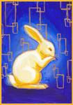 Klimt's Bunny Blue