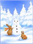 Bunny snow party