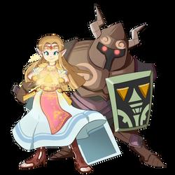 Princess Zelda (Super Smash Bros. Ultimate Collab) by drivojunior