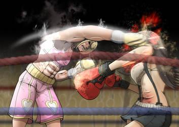 Alice vs Tifa! by ShenPlease