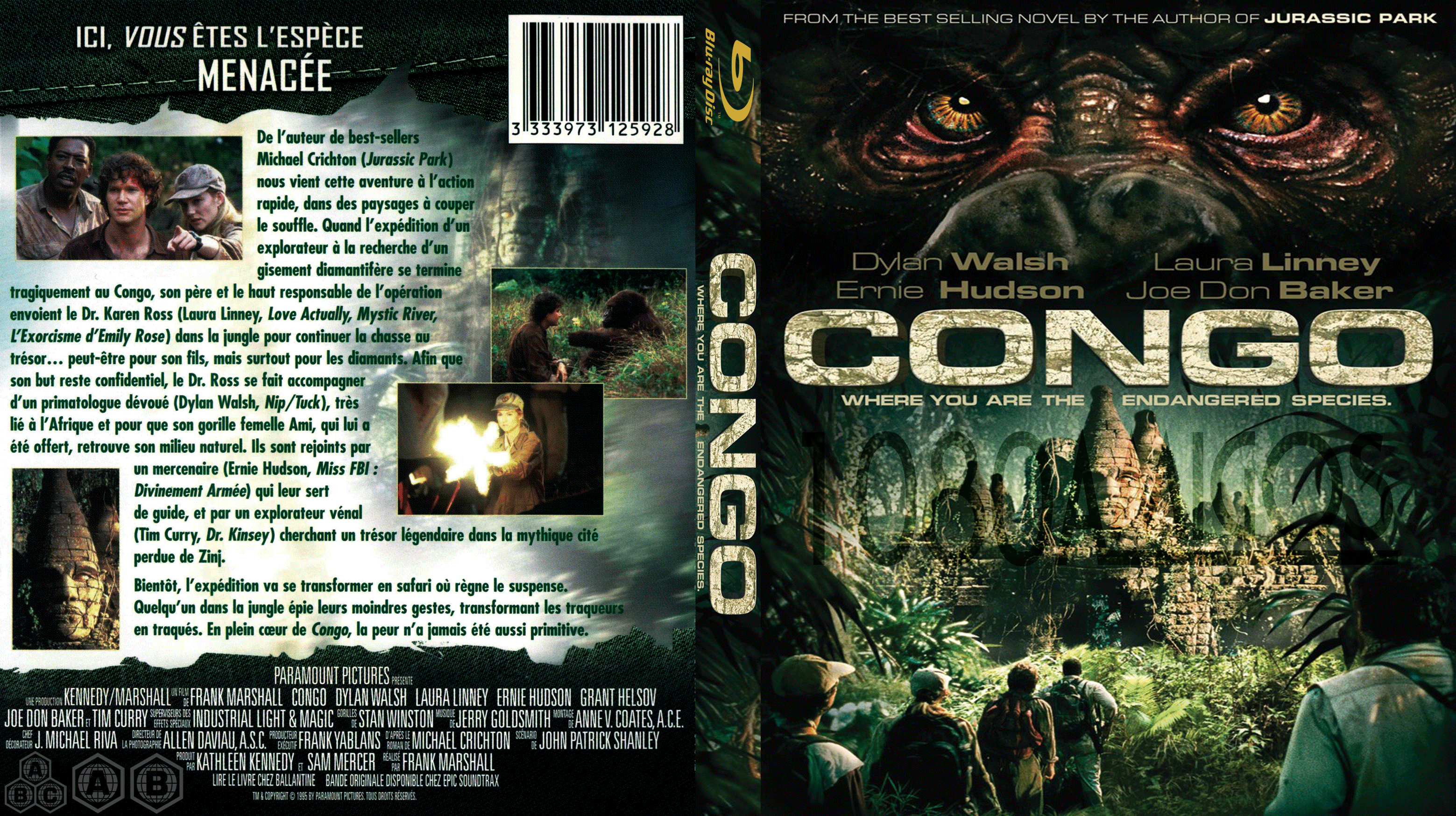 Congo Cover Blu-Ray (Pelicula 1995) by gonza1022410 on ...