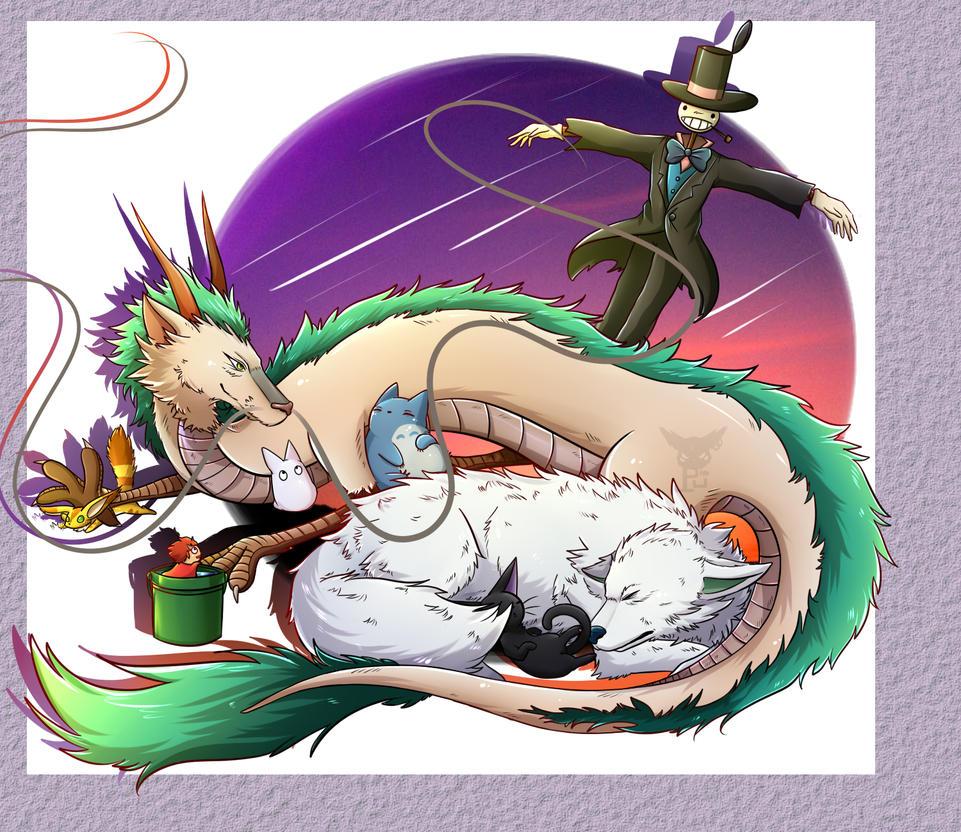 Ghibli anime [ FANART ] by MinhPuPu