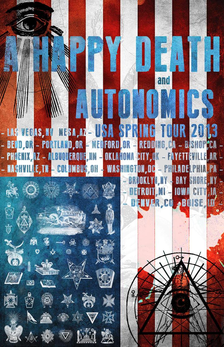 A Happy Death National Tour 2013 Poster by servilonus