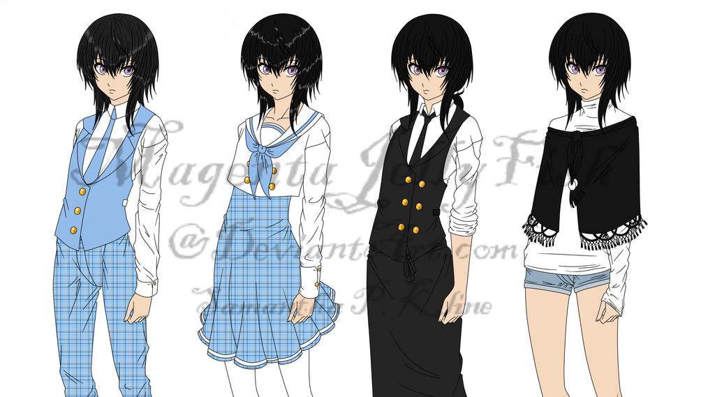 Tsubame Character Reference by MagentaJellyfish