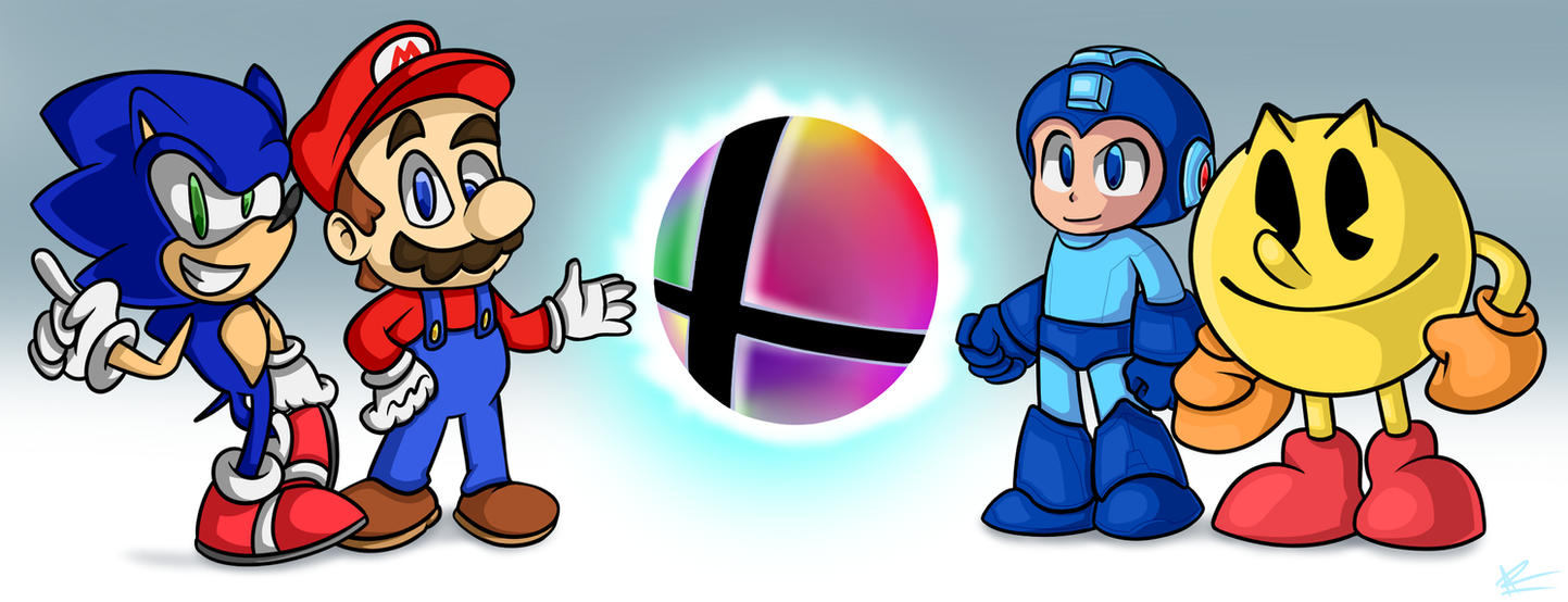 Super Smash Bros: The Four Giants by mporkyp