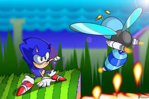 Sonic V Buzz Bomber by mporkyp
