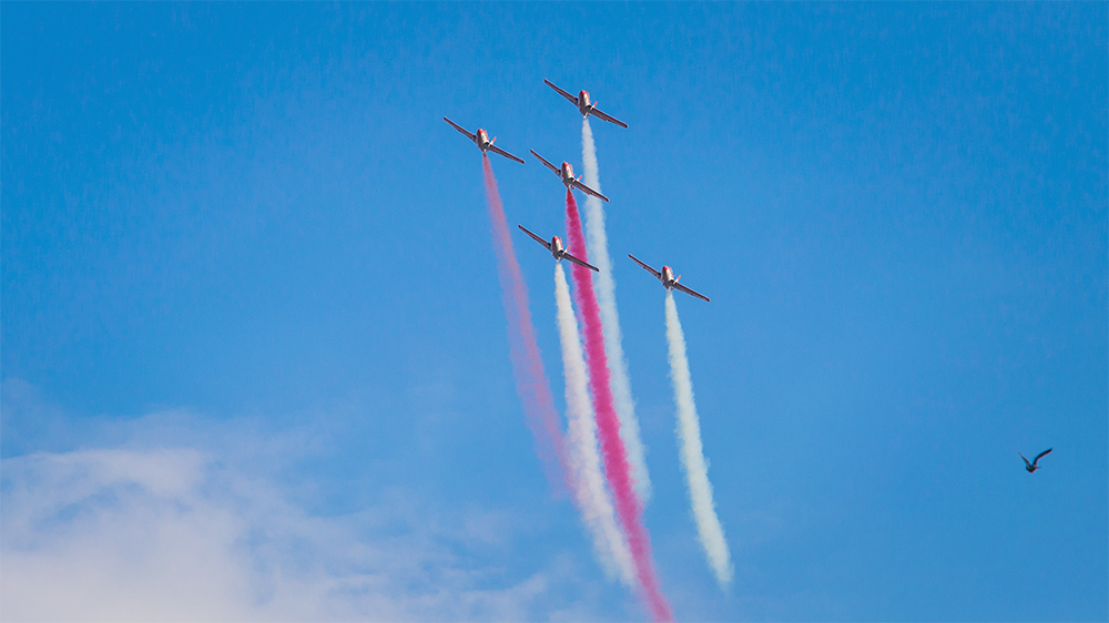 Polish airplane group during their show by pathar