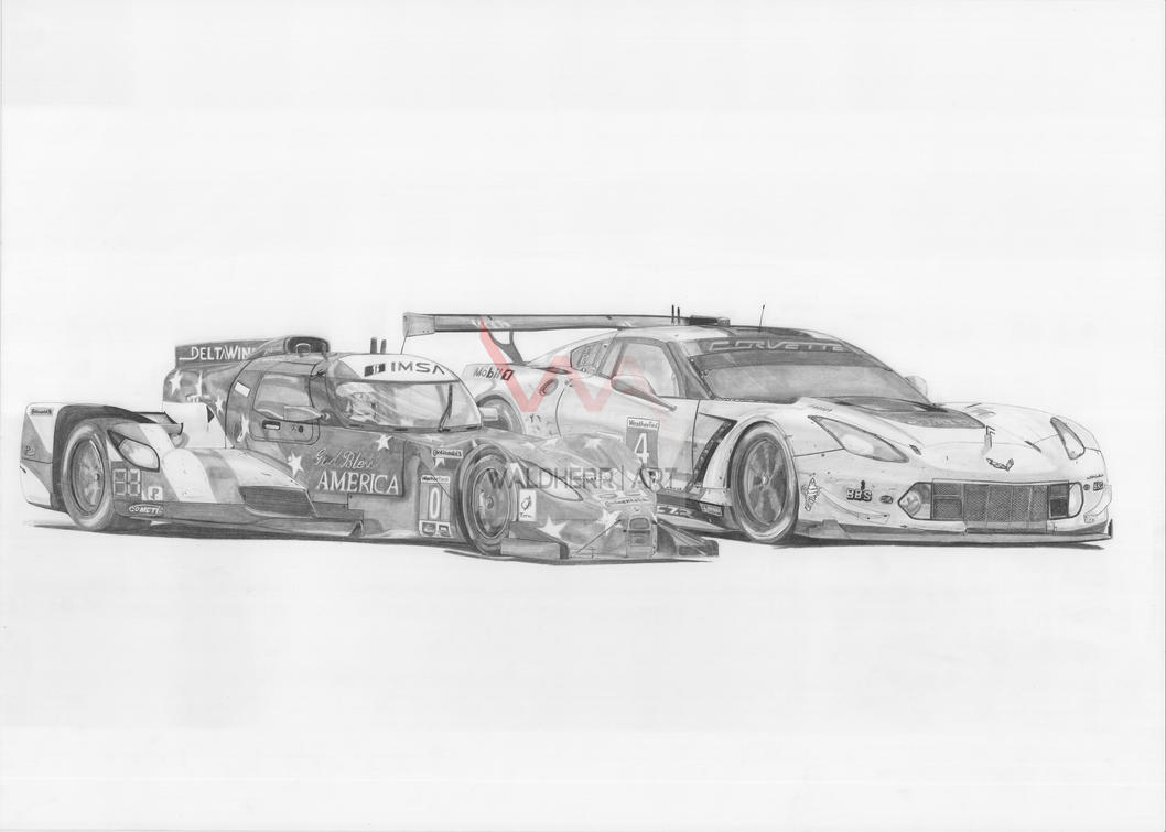 Delta Wing vs. Corvette (2016) by WaldherrArt