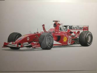 Michael Schumacher 7x World Champion by WaldherrArt