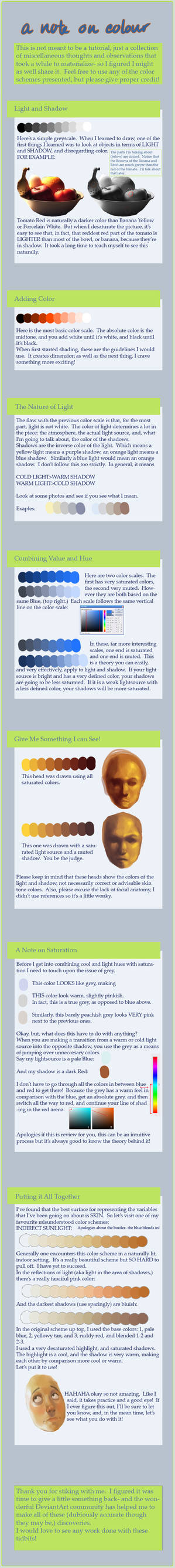A Note on Light and Colour by toerning